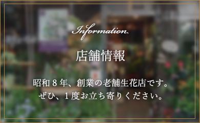 花の店友楽園 店舗情報 昭和8年からの老舗生花店です。ぜひ、1度お立ち寄りください。
